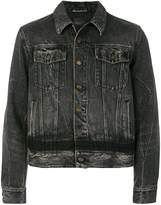 Saint Laurent distressed cropped denim jacket