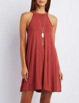 Charlotte Russe Mock Neck Shift Dress