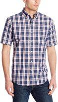 Arrow Men's Short Sleeve Medium Plaid Hamilton Poplin Shirt