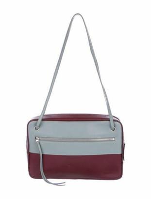 Celine Bicolor Side Lock Dragonne Bag Red