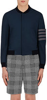 Thom Browne Men's Tech-Taffeta Bomber Jacket-NAVY