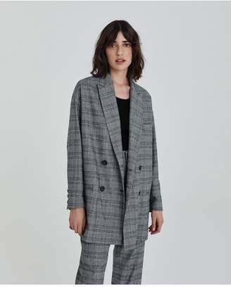 AG Jeans The Kingsley Blazer - True Black/Ivory Dust
