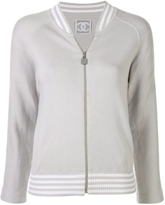 Chanel Pre Owned Sports Line Zip-Up Long Sleeve Jacket