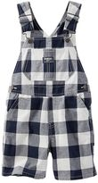 Osh Kosh Toddler Boy Gingham Plaid Patterned Shortalls