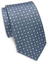Saint Laurent Spotted Silk Tie