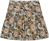 J.Crew Collection silk organza-paneled metallic jacquard mini skirt