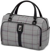 """London Fog Knightsbridge 17"""" Cabin Tote, Available in Brown and Grey Glen Plaid, Created for Macy's"""