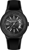 Jacques Lemans Men's 1-1784I Miami Sport Analog Black Silicone Strap Watch