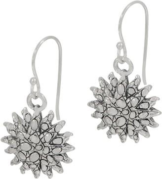 Croco JAI Sterling Silver Texture Sunburst Earrings