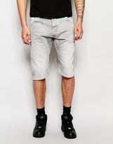 G-star Denim Shorts Arc 3d Tapered Fit Stretch Grey Light Aged