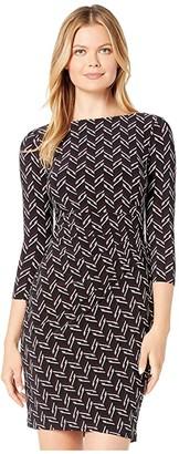 Lauren Ralph Lauren Victorina 3/4 Sleeve Day Dress