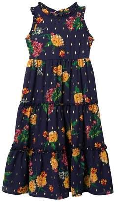 Zunie Sleeveless Tiered Floral Print Dress (Little Girls)
