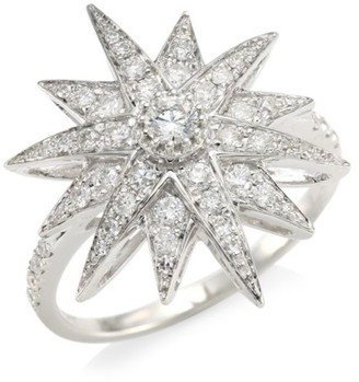 Shay Celestial Diamond & 18K White Gold Starburst Ring