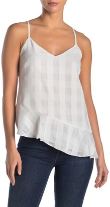 Rachel Roy Collection Remi Checked Ruffle Camisole