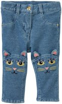 Little Marc Jacobs Trousers With Funny Cats (Baby) - Denim Blue-18 Months