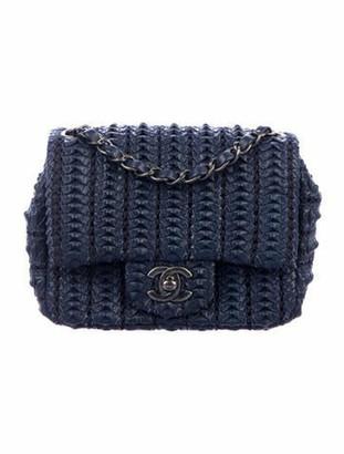 Chanel Crochet Lambskin Mini Flap Bag Navy