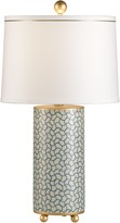 The Well Appointed House Wavy Lines Table Lamp with Shade - CURRENTLY ON BACKORDER