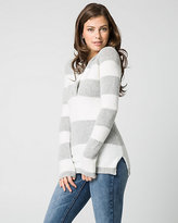 Le Château Bouclé Knit Built-Up V-Neck Sweater