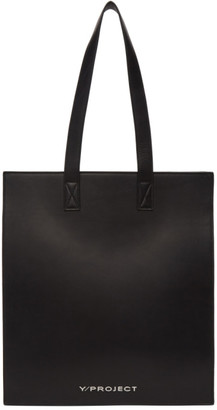 Y/Project Black Leather Accordion Tote