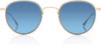 Barton Perreira Lancer Round-Frame Metal Sunglasses