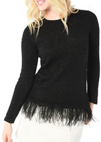 Kensie Textured Boucle Crewneck Sweater