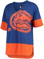 G Iii Women's G-III 4Her by Carl Banks Royal/Orange Florida Gators 1st Place V-Neck T-Shirt