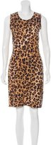 Calvin Klein Collection Leopard-Patterned Knit Dress