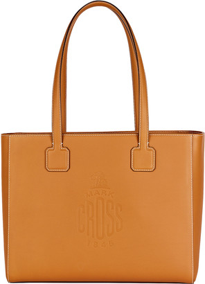 Mark Cross Cannes Logo Leather Tote Bag
