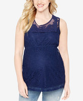 Motherhood Maternity Sleeveless Lace Top