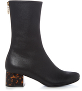 Stella McCartney Tortoiseshell block-heel faux-leather boots
