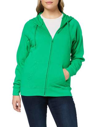 Fruit of the Loom Women's Zip front Lightweight Hooded Sweat