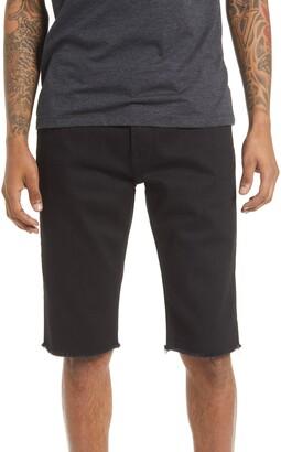 Cult of Individuality Rocker Slim Fit Cutoff Denim Shorts