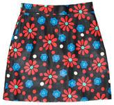 Saint Laurent Spring 2015 Leather Mini Skirt