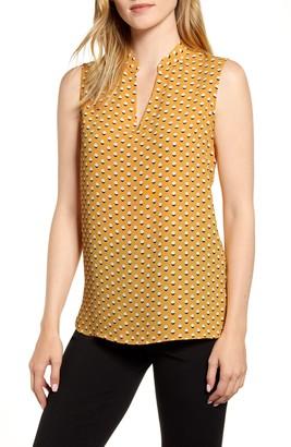 Anne Klein Dot Print Sleeveless Top