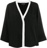 Emporio Armani loose-fit contrast trim blouse