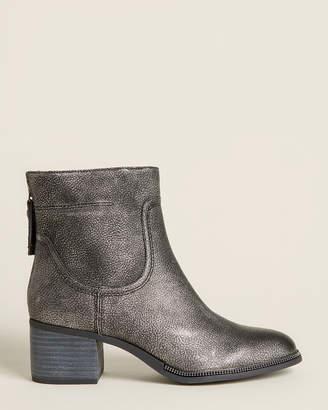 Franco Sarto Pewter Liliana Metallic Ankle Booties