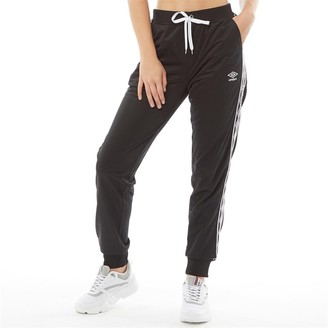 Umbro Womens Active Style Skinny Taped Track Pants Black
