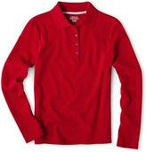 Izod Long-Sleeve Polo Shirt - Girls 7-18 and Plus