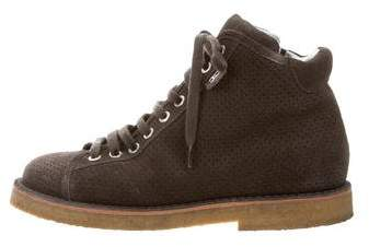 Chanel Perforated High-Top Sneakers
