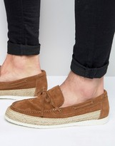 Walk London Suede Espadrille Loafers