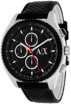 Giorgio Armani Exchange AX1600 Men's Classic Black Leather Watch with Chronograph