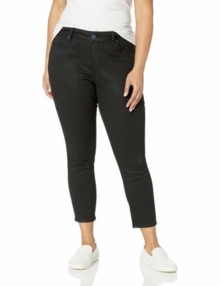 SLINK Jeans Women's Plus Size Coated HIWAIST Skinny