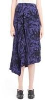 Loewe Women's Ruffle Front Print Asymmetrical Skirt