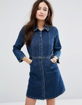 Pull&Bear Denim Button Through Dress