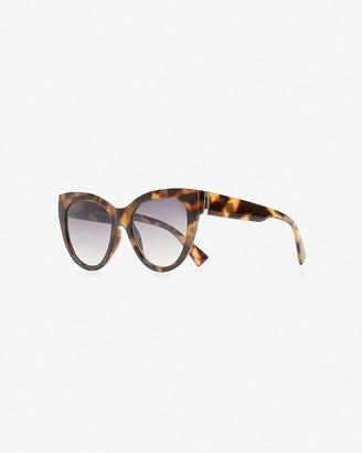 Express Tortoiseshell Round Tinted Sunglasses