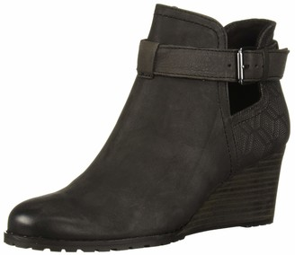 Cobb Hill Lucinda Open Bootie Black
