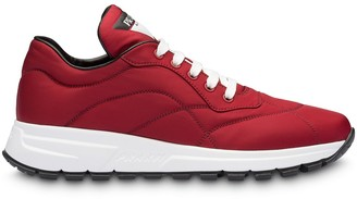 Prada Stitched Details Low Top Sneakers