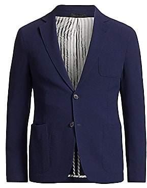 Giorgio Armani Men's Stretch Wool Seersucker Sportcoat