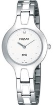 Pulsar PTA467 27mm Multicolor Steel Bracelet & Case Mineral Women's Watch