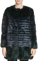 Maje Galim Two-Toned Fur Coat